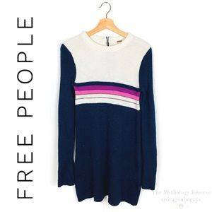Free People Colorblock Sweater Dress